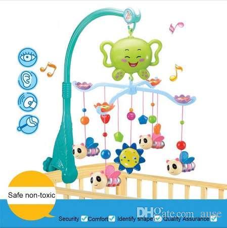 Bebé Cuna Musical Móvil Cuna Campana Caja de Música con 12 Soporte de Música Brazo Bebe Cama Campana Colgando Sonajero Juguetes Regalo Recién Nacido 0-12 Meses