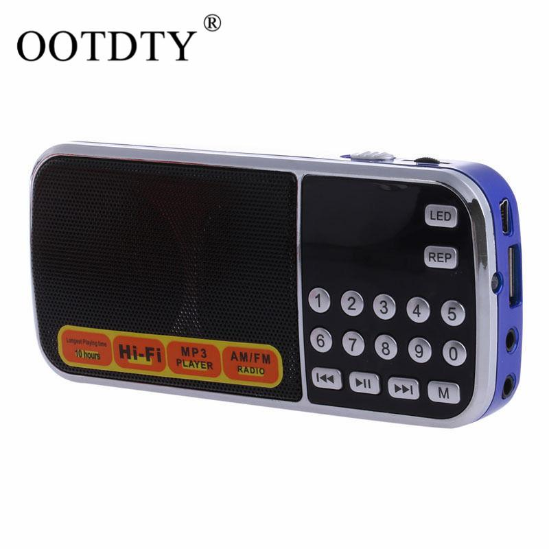 Mini LCD Receiver Digital FM AM Radio Speaker USB Micro SD TF Card Mp3 Player