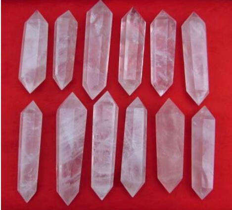 Природный розовый кварц Кристалл точка исцеление