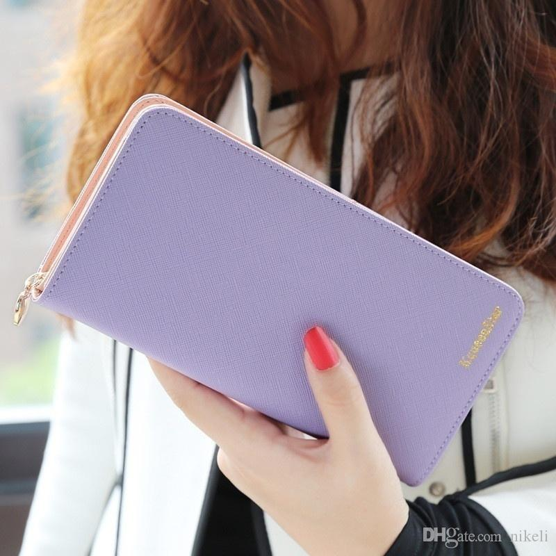 2018 Fashion Cheap Luxury Designer Women PU Leather Long Wallets Lady Good Quality Wallet Ladies Long Purse Mobile Phone Bags Card,Wholesale