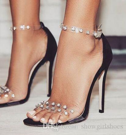 Mulheres Sandálias Bombas de Verão Da Marca Rhinestone Pena de Salto Alto Branco Mulheres Bombas De Casamento Sapatos