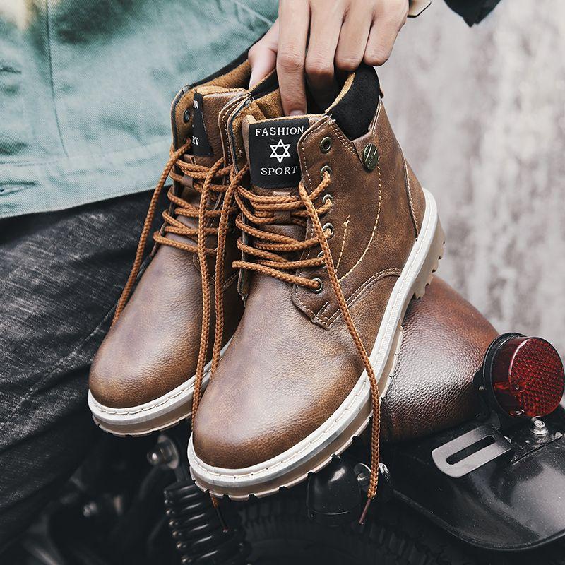 Großhandel Martins Stiefel Herren Stiefel Adult Winter Herren Casual Sport Pulsh Schuhe Herren Stiefel Mit Fell Puls Big Size Outdoor Bot High Top