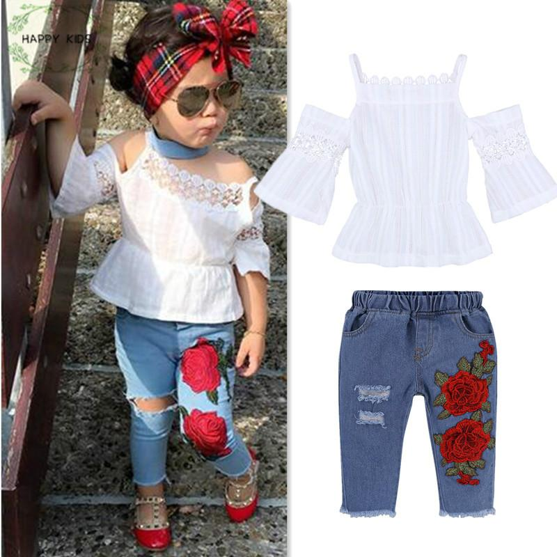 iHHAPY Toddler Baby Boys Clothes,Summer Sleeveless Letter Print Vest Tops+Hole Denim Jean Shorts Set Outfits Black