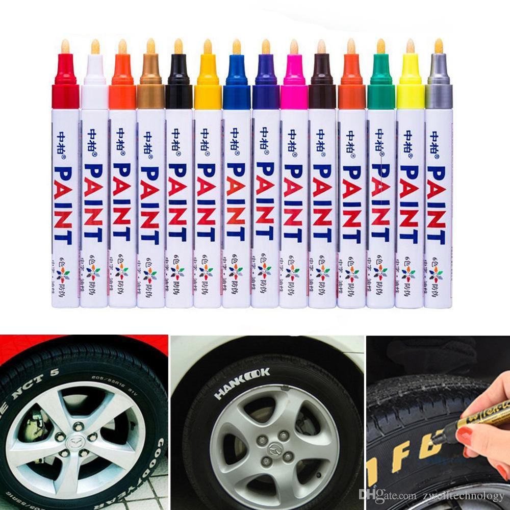 12 colors Waterproof Car Tyre Permanent Paint Marker Tire Tread Metal Graffiti