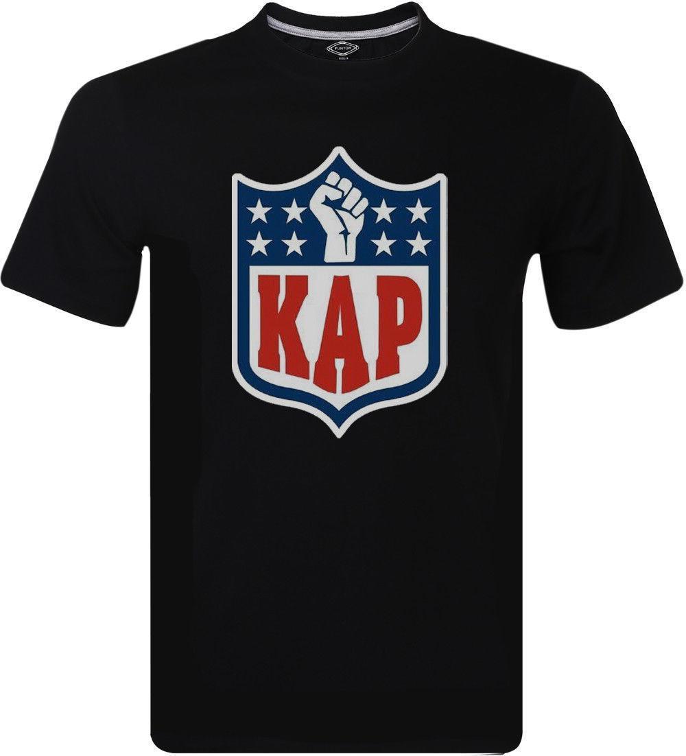 Protesta Colin Kaepernick Parodia Kap Logo Oldskool masculino art camiseta M-234XL F444