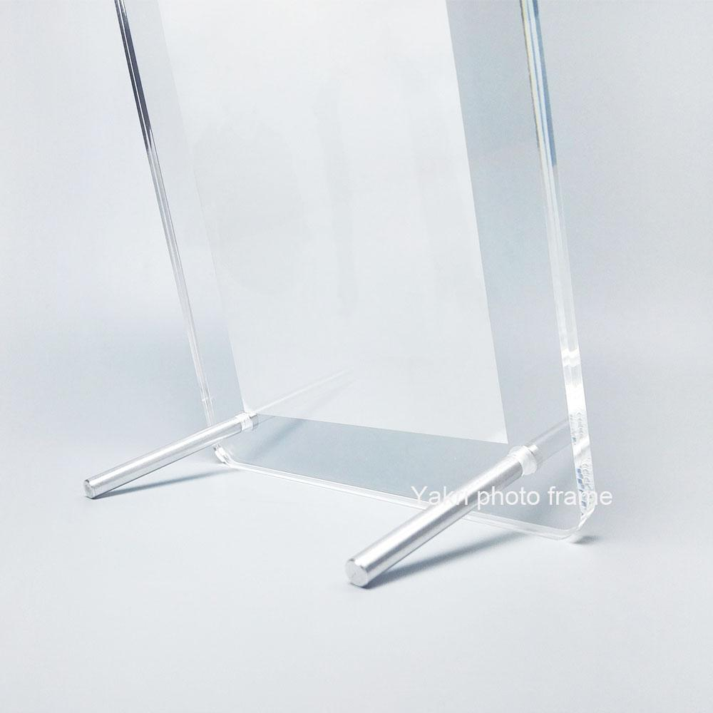 Round Corner Acrylic Photo Frame Stand, Screw Acrylic Picture Display Frame PF023-2