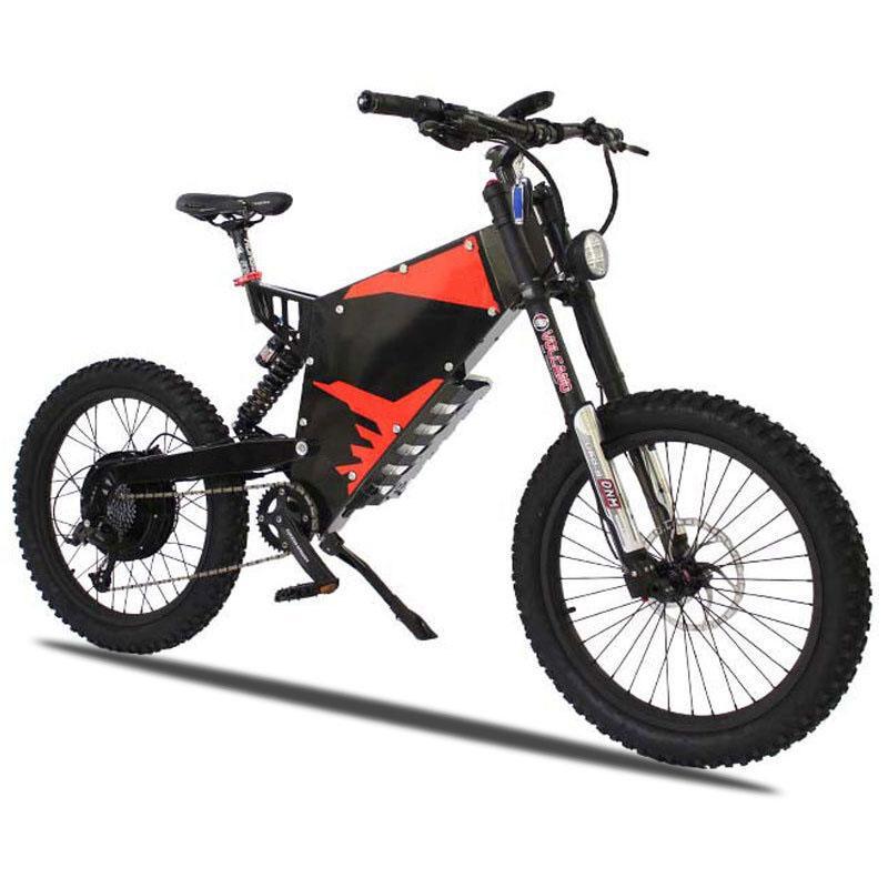 Kundenspezifisches E-MOTOR elektrisches Motorrad 72V 3000W / 5000W Ebike plus Stealth-Bomber Stealthbomber elektrisches Gebirgsfahrrad nicht für den Straßenverkehr