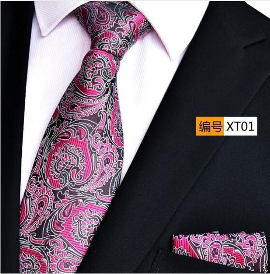 NINIRUSI high density digital 1200 needle yarn dyed fabric hand made Necktie with pocket towel free shipping