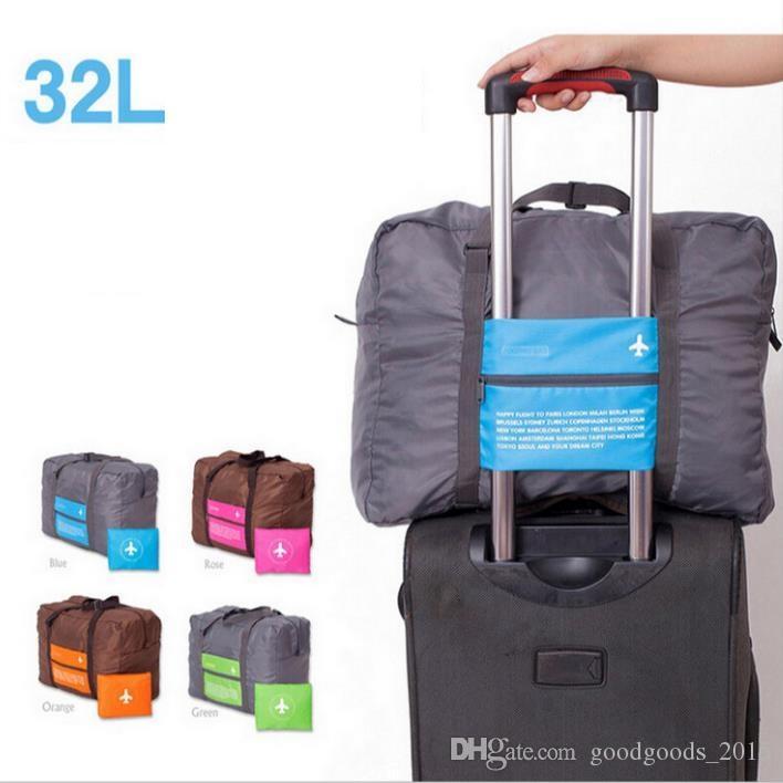 4 Colors Foldable Nylon Suitcase Hand Luggage Cabin Small Wheeled Travel Folding Flight Bag Large Capacity Case Travel Insert Handbag ak056
