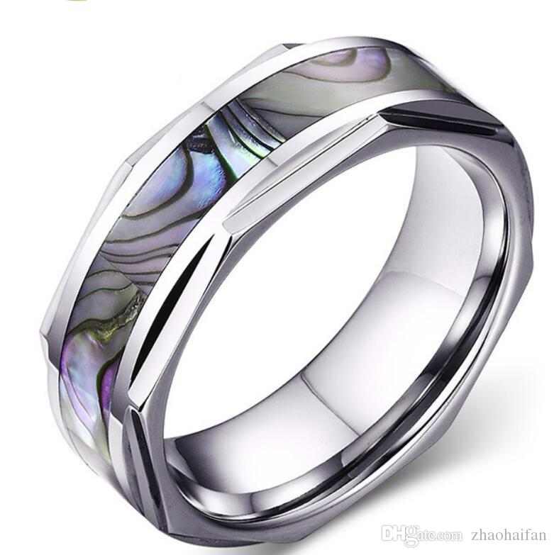 Cool Wedding Rings.2018 Zhf Jewelry Vnox Cool Shell Men Wedding Ring Tungsten Carbide Ring Jewelry Wholesale High Quality Men Textured From Zhaohaifan 20 11