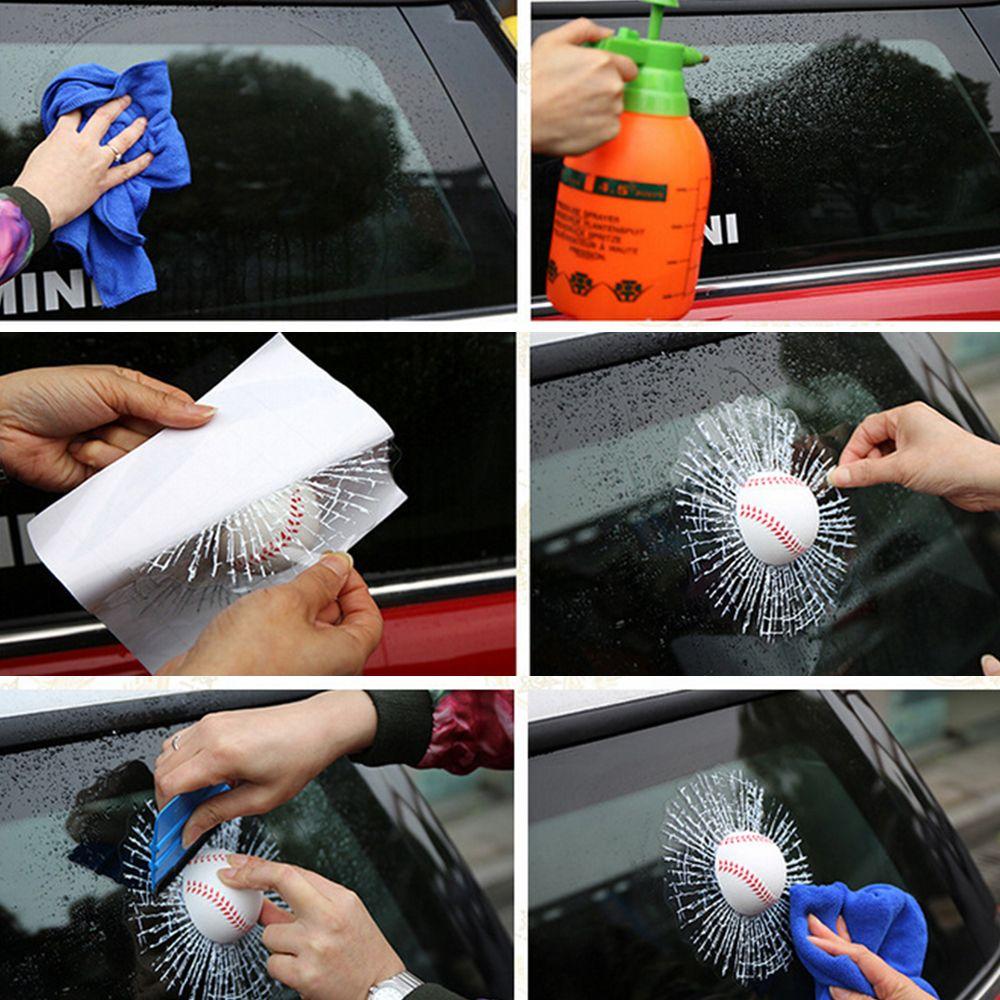 Window Sticker Funny Ball Hits Car Body Baseball Tennis FootballCar Styling 3D Car Stickers