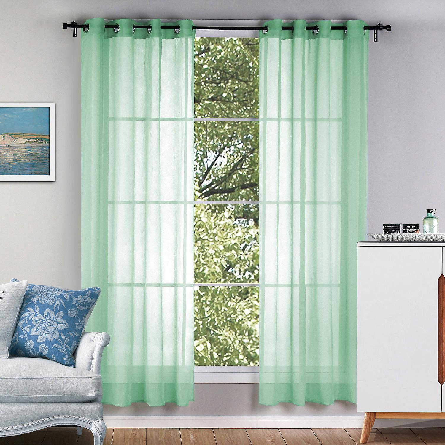 8004 Best Home Decor Finished Draps Window Blackout Sheer Curtains For  Living Room Balcony Window Screens Solid Color Curtains Curtain Sets  Curtains ...