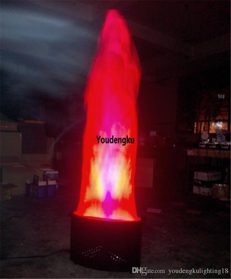 Effet de feu au sol led lumière led dmx lumière de la flamme 36pcs 10mm 1,5m hauteur feu faux led lumière de la flamme de soie