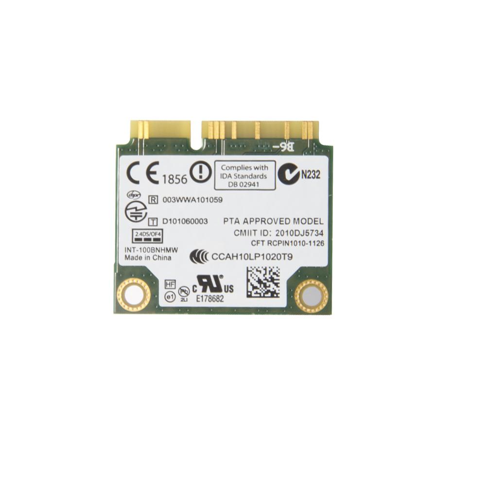 Intel Centrino Wireless-N 100 802.11b//g//n 150 Mbps Half Mini Wireless Card 1 St