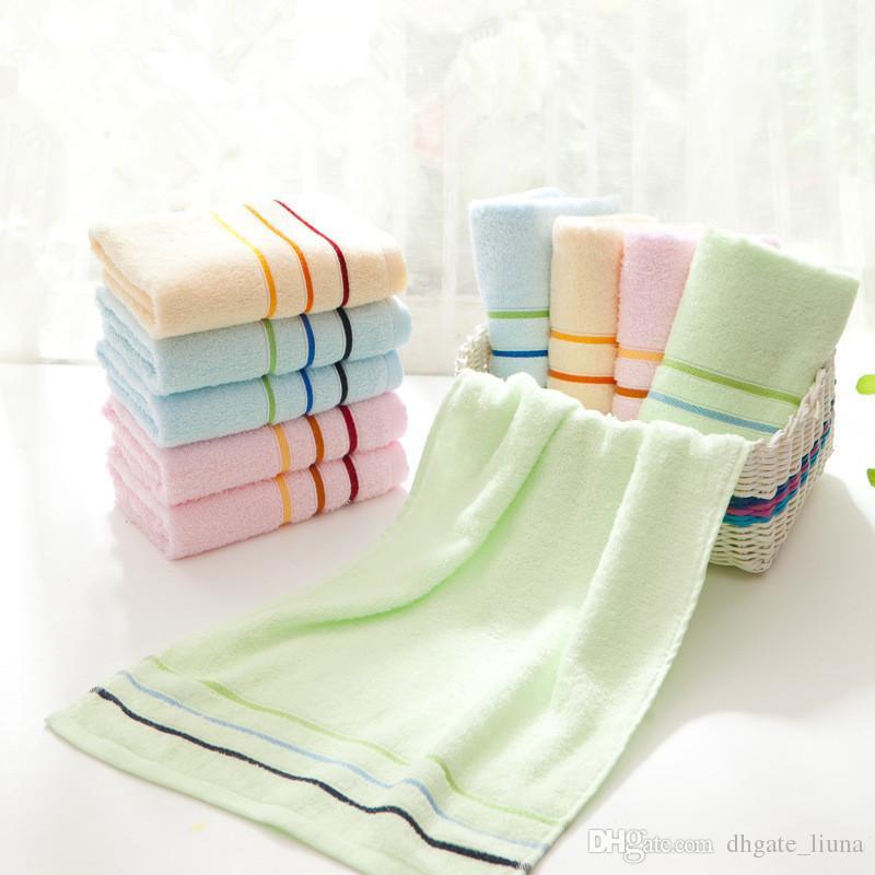 Serviette en coton doux de haute qualité pour les adultes, salle de bains, serviettes absorbantes épaisses super absorbantes 34x74cm