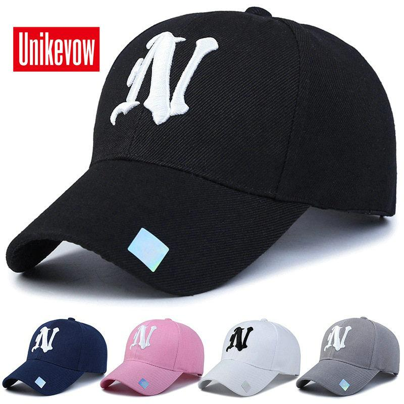 1piece Baseball Cap Solide Couleur Loisirs Chapeau avec N Lettre Casquette brodée pour hommes et femmes Cap Athletic Baseball extérieur Accs