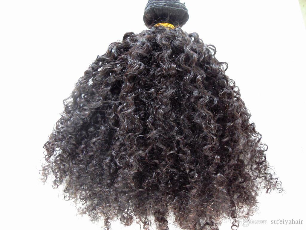 Расширения человеческих волос 3B 3C клип в наращивание волос бразильский кудрявый вьющиеся девственные человеческие волосы толстый уток 120 г 2 компл. полный глава