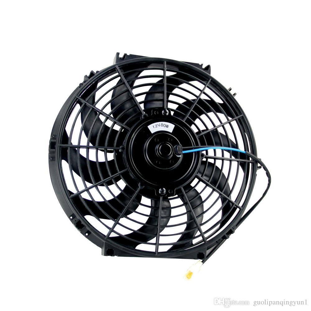 "12/"" inch Universal Slim Fan Push Pull Electric Radiator Cooling 12V Black Kit"