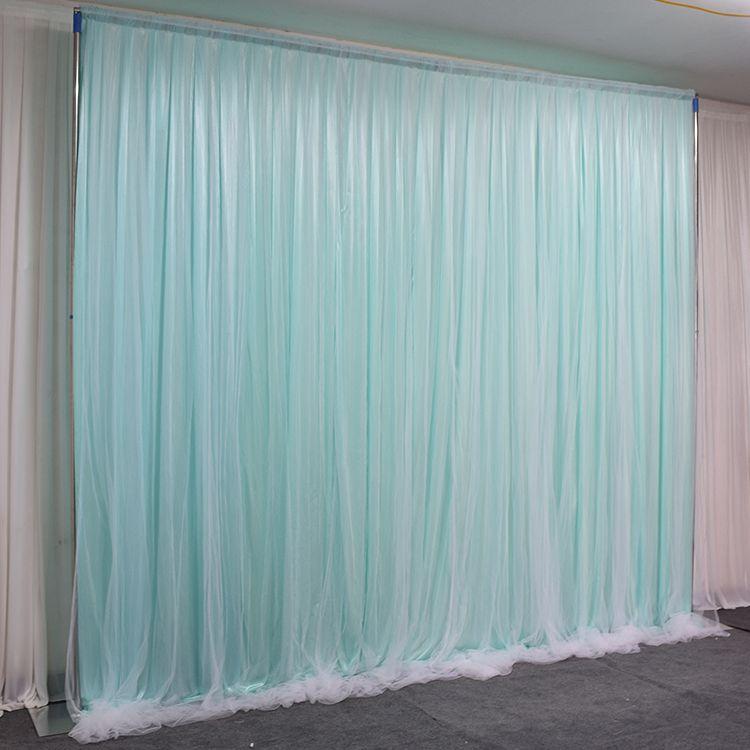 Personalizar Arco de bodas Cortina Faja con seda de hieloCortina Decoración de bodas Telón de fondo Colgando Cortinas Decoración de fiesta de cumpleaños