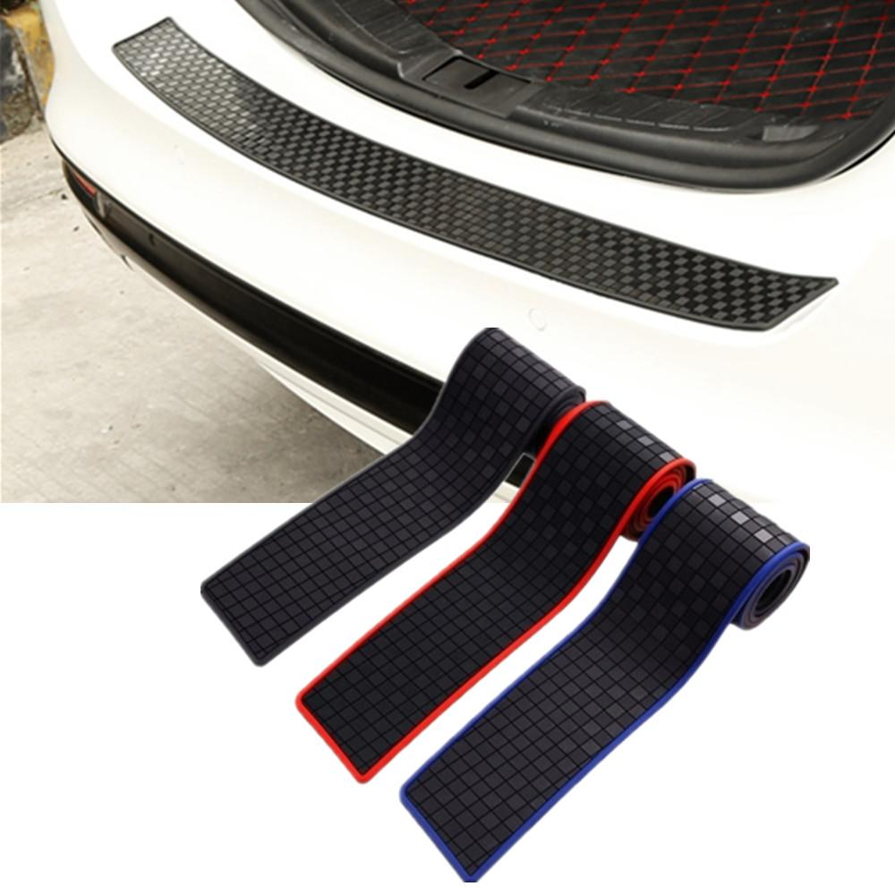 Car Styling Guard Plate Sticker Rear Bumper Strip Rubber Anti Scuff Protector US