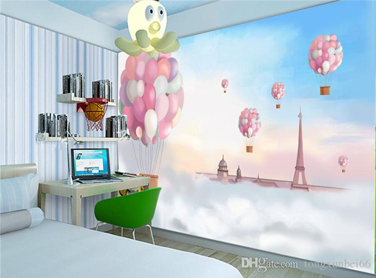 Hand Painted Cartoon Kids Room Personality Wallpapers Living Room Tv Background Walls Mediterranean Wall Paintings Lighthouse Sky Landscape Wallpaper And Images Wallpaper Background From Tongxunbei66 17 61 Dhgate Com