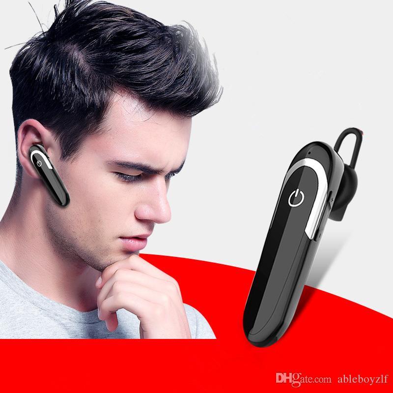 D5 Bluetooth Telefon İş Kulaklık In-kulak V5.0 Kablosuz Görünmez Taşınabilir Sürücü Kulaklık iPhone X Iphone 8 GALAXY Note 9 S9 S8