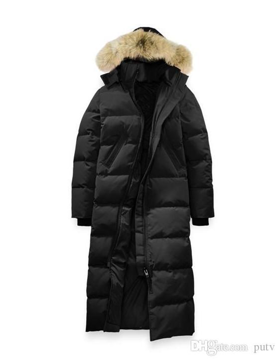 2019 Damen Daunen Parkas Gans Damen Mystique Parka Lange Slim Fashion Daunenjacke 90% Weiße Gänsedaunen Atmungsaktive Warme Kapuzenjacke