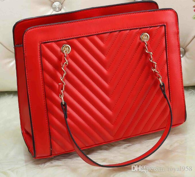 Free Shipping 2018 New Design Women's Fashion Style Stripes Handbags shoulder bag Tote Bags Purse 3 Pcs