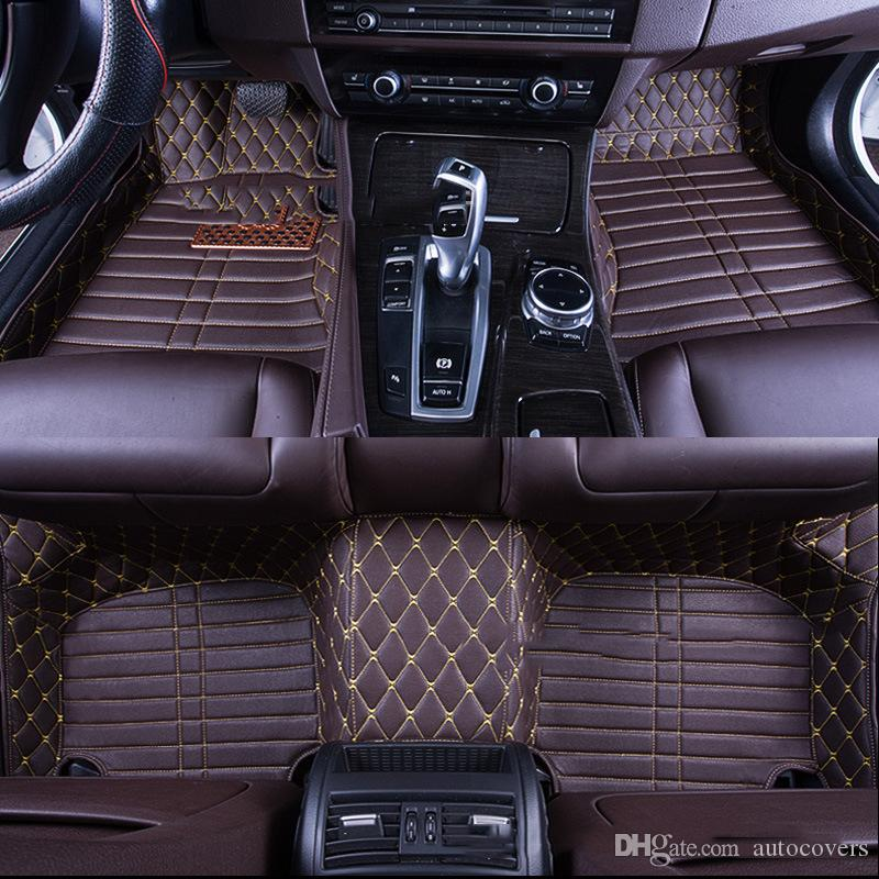 Custom Fit Specific Car Floor Mats Waterproof PU Leather For Vast of Car Model and Make Full set Car Interior Accessory Mats Good Quality