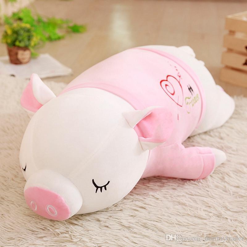 Super Kawaii Pink Pig Plüschkissen Puppe Cute Cartoon Piggy Girl Holding Schlafende Puppe für Mädchen Geschenk 80cm 100cm DY50433