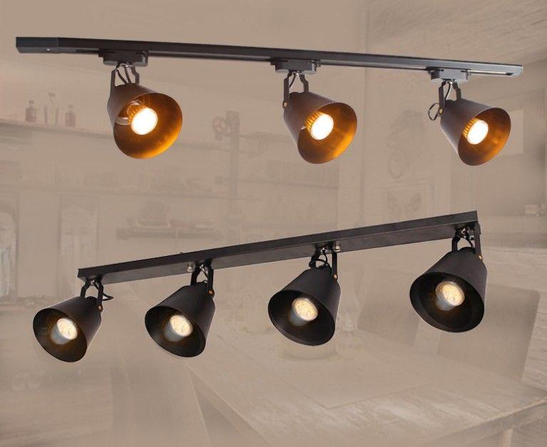 Moderno industriale vento retro pista lampada da parete sfondo personalità abbigliamento negozio leader LED soggiorno riflettore LLFA