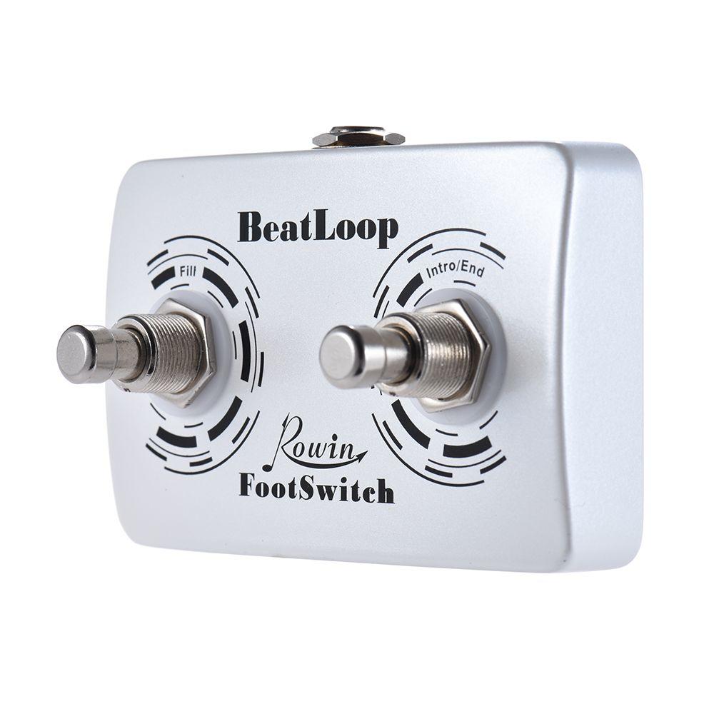 6.35mm Kablo ile Rowin BEAT LOOP Kayıt Etkisi için Rowin BeatLoop Çift Ayak pedalı Gitar Pedal Ayak Anahtarı Pedallı