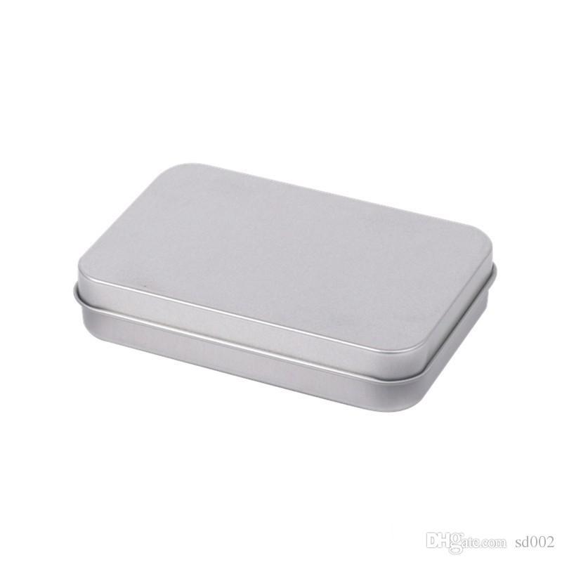 Rechteckige Klappbehälter Mit Deckel Metall Mini Leere Blechdose Verschleißfeste Speicherorganisator Heißer Verkauf 1 3gy BB