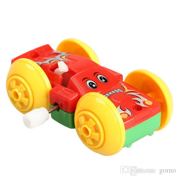 Somersault Bounce Cars Two-sided Pattern Clockwork Funny Toys Gift for Kids Children Toy Cars