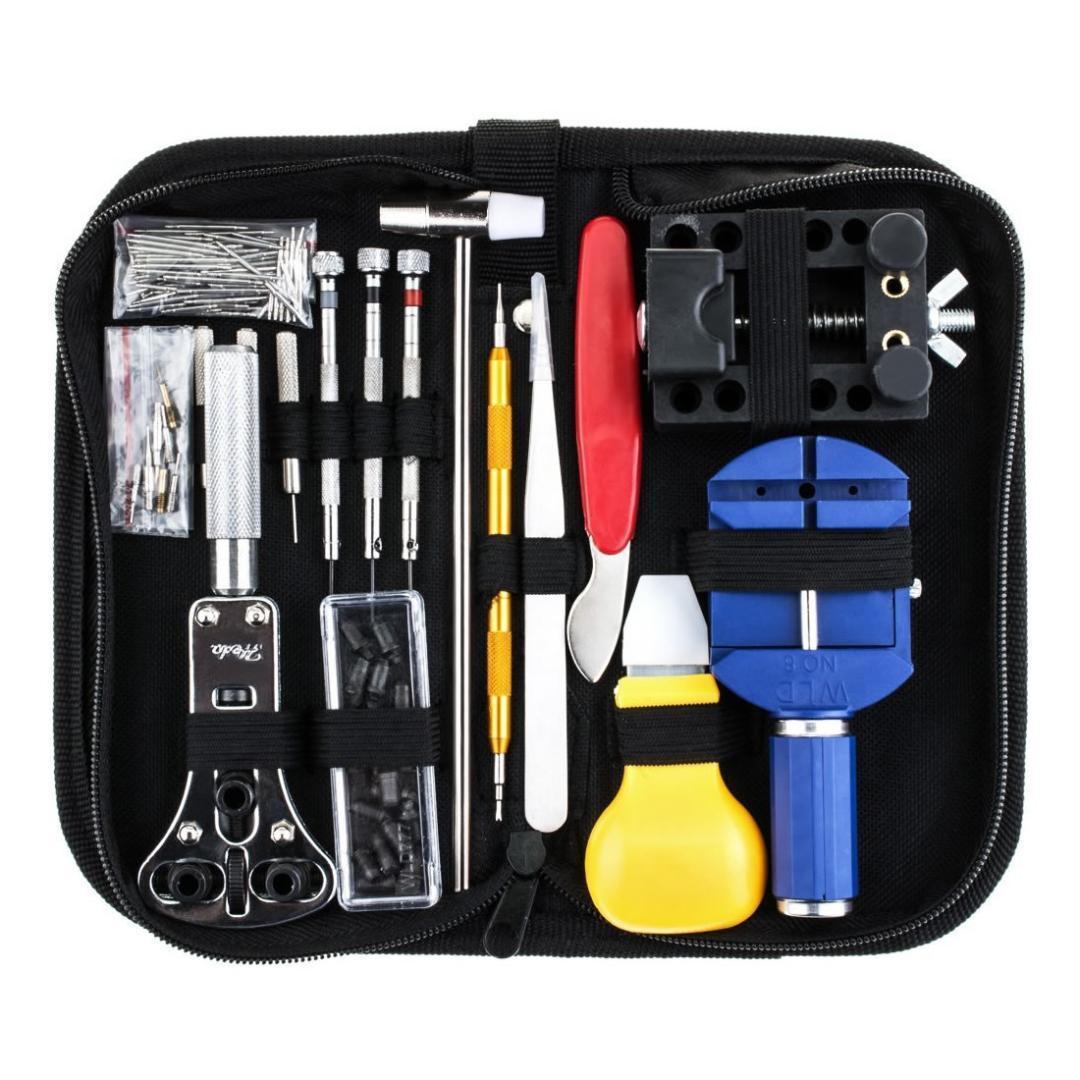 146pcs Kit di strumenti di riparazione di orologi Kit di strumenti di orologi professionali Set di attrezzi per astuccio per cacciaviti apri del case Set 2018 Dropship