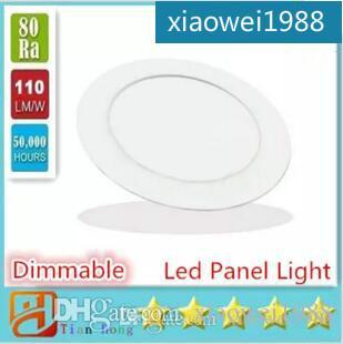 Luci LED pannello del soffitto rotondo da incasso Lampada in alluminio ultra sottile Downlight 3W 4W 6W 9W 12W 15W 18W Lampade riflettore chiaro