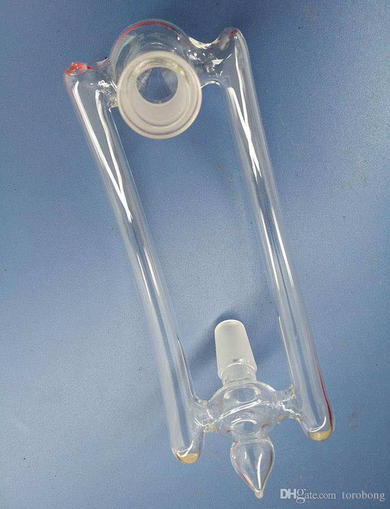 Yeni Cam dönüştürücü adaptörü çift kol açılır erkek kadın 14mm veya 18mm ile 2 delik çatı tasarımı çift cam bong için aşağı damla