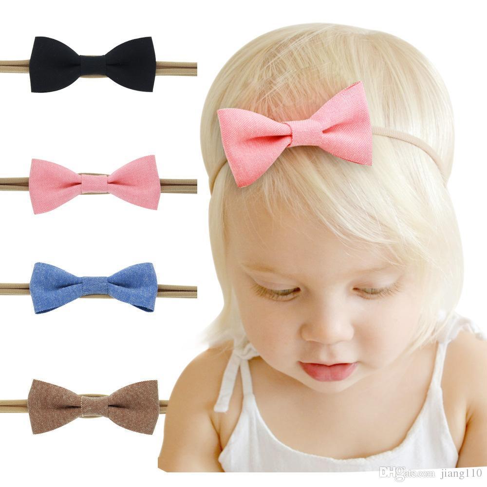 3pcs Newborn Headband Ribbon Elastic Baby Headdress Kids Hair Band Girls Bow f8