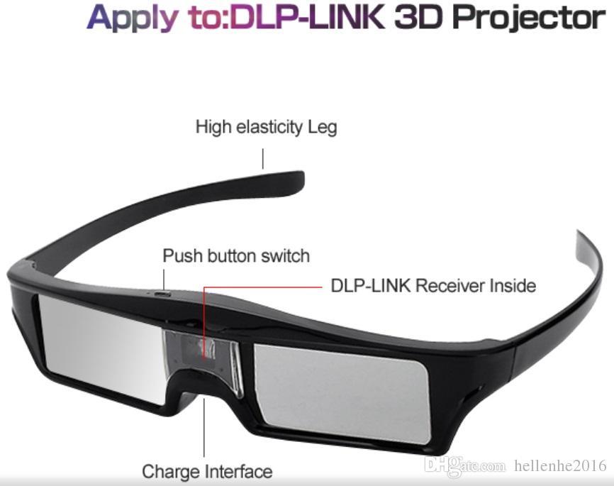 DLP 3D نظارات المصراع النشط لأوبتوما إبسون / سوني إل جي أيسر DLP-LINK بروجكتور Gafas 3D Optoma DLP Link 3D Fashion Glasses