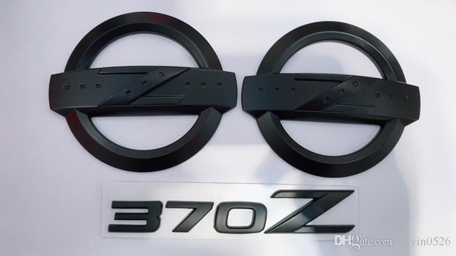 Autocollants d'emblème arrière de corps de voiture de kits de badge de 3PCS 370Z pour 370Z Fairlady