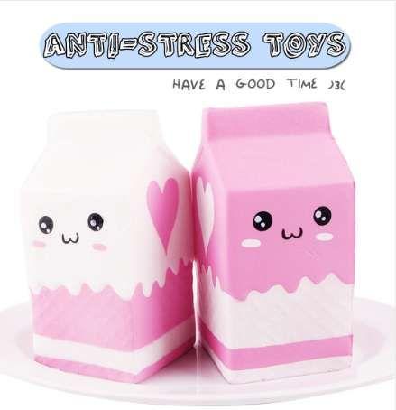 Etmakit kawaii لطيف لينة كيس اسفنجي سحر الحليب لعبة بطيئة ارتفاع للأطفال البالغين يخفف من التوتر ديكور