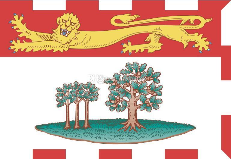 Kanada Flaga Prince Edward Island 3ft x 5ft Poliester Banner Latający 150 * 90 cm Niestandardowa flaga na zewnątrz