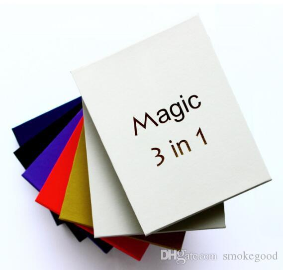 Magic 3 in 1 Cera vaporizzatore Pen Kit Secco Erba sigarette elettroniche con atomizzatore MT3 vetro atomizzatore EVOD 650mAh 900mAh 1100mAh