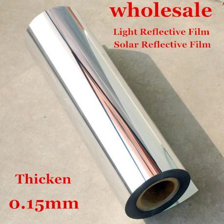 50cmX2m Solar Light Reflective Film Stickers Wallpaper Mirror Waterproof Self Adhesive uv reflective film / light