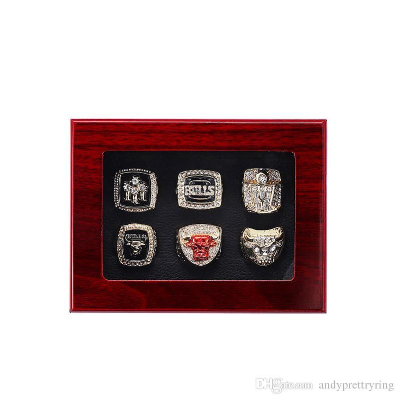 2018 가장 새로운 1991 년 1992 년 1993 년 1996 년 1997 년 1998 년 불스 농구 챔피언십 반지 팬 선물 도매 드롭 배송 US SIZE 11 #