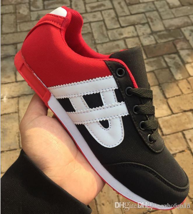 2018 Verano Nuevos Hombres Transpirables zapatos casuales Stan Smith Zapatillas Zapatos Masculinos Adultos Rojo Negro Gris Cómodo antideslizante Soft Mesh neo VS JOG
