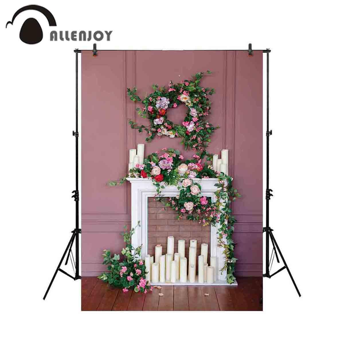 2020 Wholesale Photography Backdrop Fireplace Flower Wreath Wedding Room Background Photobooth Photoshoot Fabric Photocall From Tengdingcomputer 17 6 Dhgate Com