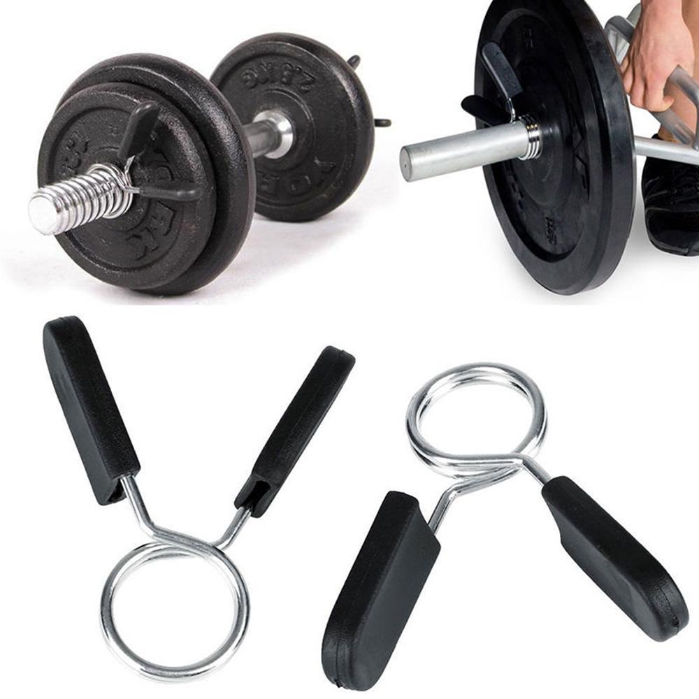 hot Standard-25mm Federklemmring Clips für Weight Bar Dumbbells Gym NEU Barbells Günstige Barbells