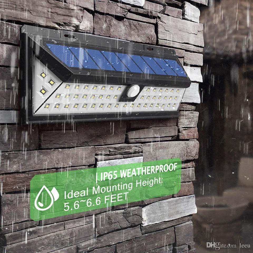 방수 34/54/66/90 LED 화이트 태양 전원 빛 야외 정원 조명 IP65 2835 SMD PIR 모션 센서 긴급 벽 태양 램프