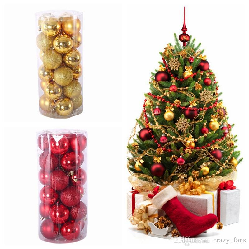 Christmas Tree Balls Decorations.Christmas Balls 3cm 4cm 6cm 8cm Xmas Tree Balls Shatterproof Christmas Ornaments Set Decorative Baubles Pendants For Holiday Decorations Buy Xmas